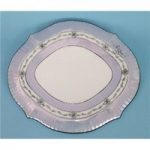 Blue, White and Teal Decorated Hot Plate/ Trivet
