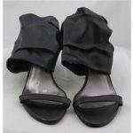 Pierre Dumas, size 4 black ankle cuff sandals