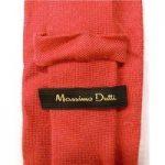 Massimo Dutti Red Silk and Viscose Blend Tie