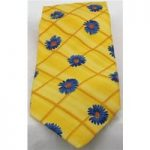 M&S yellow/blue flower print tie