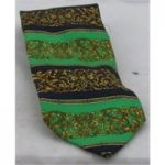 Golf Club pure silk green,blue and brown tie