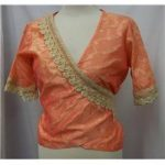 Embroidered Sari style top Size: Medium