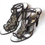 Karen Millen sequin strap sandals