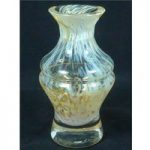 Lovely small Murano glass bud/posy vase Yellow
