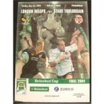 Rugby Programme – 2004 – London Wasps vs Stade Toulousain – Heineken Cup Final (includes 1 ticket)