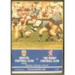 Rugby – 12 programmes – Bristol RFU – 1992/1993