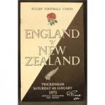 Rugby Programmes – England vs New Zealand – 5 miscellaneous (Includes 1 ticket)