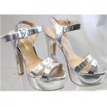 Miss KG size 3/36 silver platform sandals