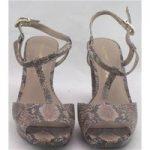 NWOT Autograph, size 4 beige & black snake skin patterned sandals