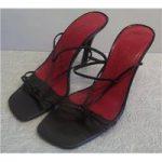 L.K. Bennett Stiletto Sandals Black Heeled Shoes Size: 4