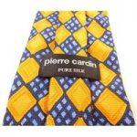Pierre Cardin Orange and Blue Pure Silk Tie