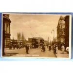 1926 Historic Black & White Postcard. Real Photograph. Trams in Aberdeen.