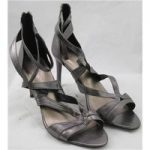 NWOT M&S Collection, size 7 metallic pewter evening sandals