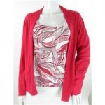Minuet Petite – Size: 16 – Red/Grey/White – Cardigan and Top