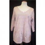 BNWT JunaRose Size 14 Antiue rose Pink and white striped T-Shirt