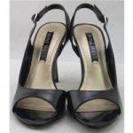 BNIB Nine West, size 4 black patent effect sandals