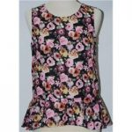 H&M size 8 Floral Print Sleeveless Top H&M – Size: 8 – Multi-coloured – Sleeveless top