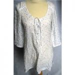 White Stuff 100% linen white dotty tunic size 8 White Stuff – Size: 8 – White – Smock top