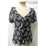 Per Una, size 18 black & white floral lace top