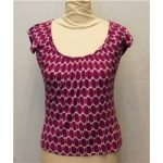 Phase Eight, size 8 white & purple patterned T-shirt