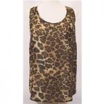 New Look – Size S – Brown Leopard Sleeveless Top