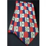 Michelson's of London blue / red / cream Pure Silk Men's tie