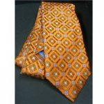 JZ Richards All Silk orange embroidered design – Tie