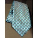 Gino Rossini teal blue Made in Italy Men's tie