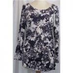 BNWT Roman-Size 10-Purple Floral Print Sequin-Top.