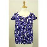 Collection Debenhams size 10 floral top Debenhams – Size: 10 – Purple – Cap sleeved T-shirt