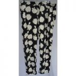 Gap – Size Large – Black And Grey – Floral Print – Trousers