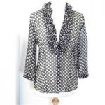 Gerry Weber black spot and frill blouse