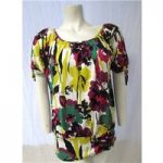 M&Co Size 10 Patterned Top M&Co – Size: 10 – Multi-coloured