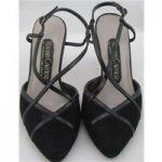 Roland Cartier, size 3.5/36 black suede slingbacks