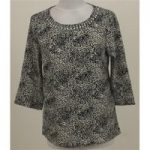 Only, size 8, black & white patterned top