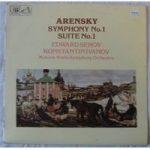 """Arensky €Ž€"""" Symphony No. 1 / Suite No. 1"""