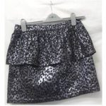 BNWT – ASOS – Size: 10 – Black and silver – Mini skirt