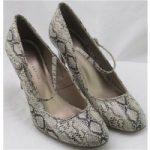 NWOT M&S Collection, size 3.5 beige & black snake skin high heeled pumps