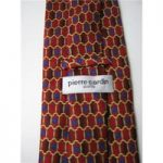 Pierre Cardin Size 4″ Width Red Yellow and Blue Patterned Silk Tie