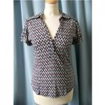 Dorothy Perkins, size 12 black, red & white spotted top
