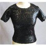 Free Paris black fitted sequin top size S Free Paris – Size: 8 – Black – T-Shirt
