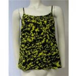 Miss Selfridge Size 8 Black and Yellow Top Miss Selfridge – Size: 8 – Black