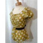 Next size 8 mustard with white spots top