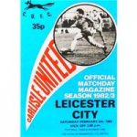 Carlisle United v Leicester City – Division 2 – 5th February 1983