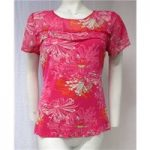 M&Co Pink Floral Top Size 12 M&Co – Size: 12 – Pink