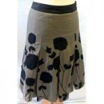 Next – Size: 6 – Grey and black – Ladies' Knee length skirt