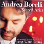 Legendary Contemporary Tenor Bocelli , plus chorus & orchestra, perform Sacred Christian Arias in 1999, CD