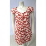 White Stuff Size 8 Cream with pink floral patterned top
