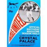 Carlisle United v Crystal Palace – Division 2 – 18th September 1982