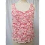 Topshop – Size: 8 – Pink/cream – Lacey Vest top